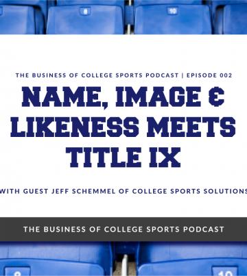 Jeff Schemmel on NIL and Title IX